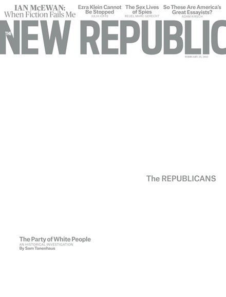 The New Republic Cover - 2/25/2013