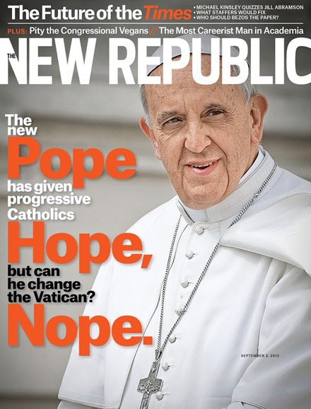 The New Republic Cover - 9/2/2013