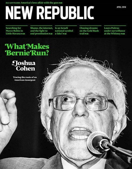 The New Republic Cover - 4/1/2016