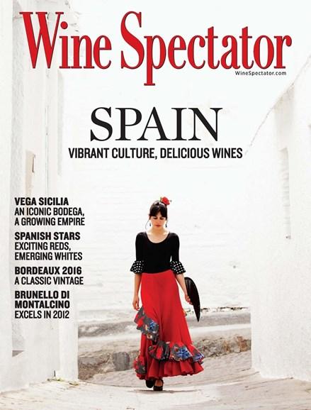 Wine Spectator Cover - 6/30/2017