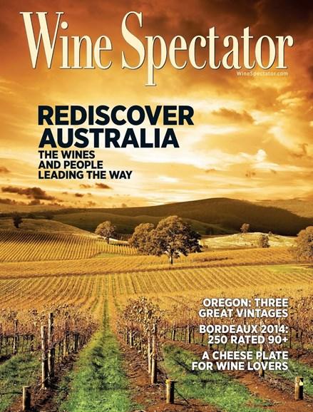Wine Spectator Cover - 3/31/2017