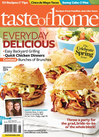 Taste of Home Cover - 4/1/2013