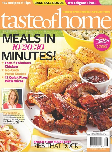 Taste of Home Cover - 8/1/2012