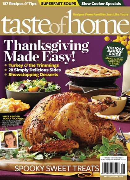 Taste of Home Cover - 10/1/2012
