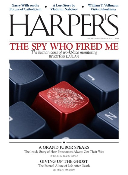 Harper's Cover - 3/1/2015