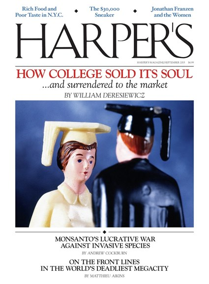 Harper's Cover - 9/1/2015