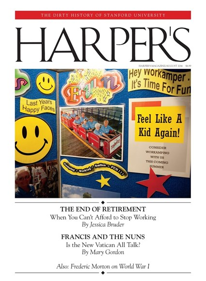 Harper's Cover - 8/1/2014