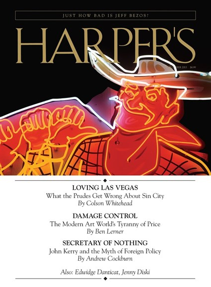 Harper's Cover - 12/1/2013