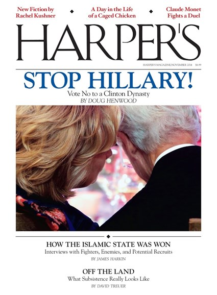 Harper's Cover - 11/1/2014
