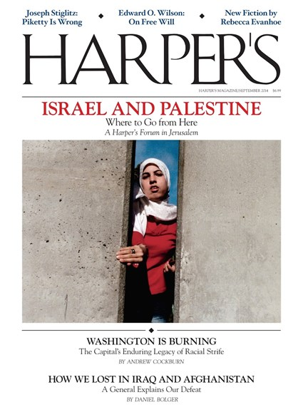 Harper's Cover - 9/1/2014