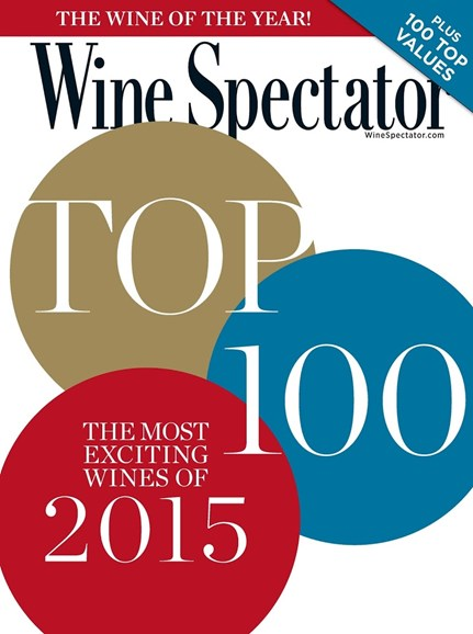 Wine Spectator Cover - 12/31/2015