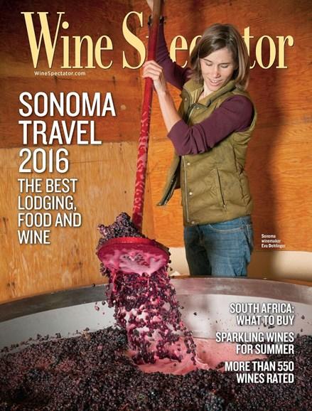 Wine Spectator Cover - 6/15/2016