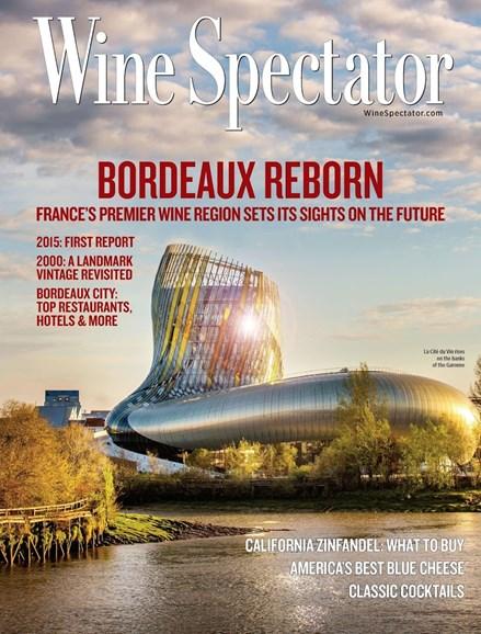 Wine Spectator Cover - 6/30/2016