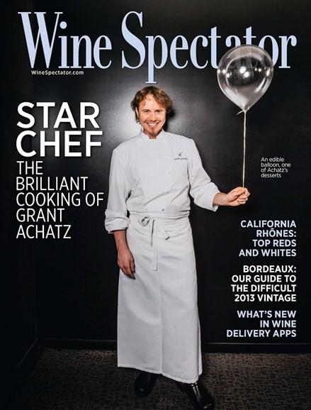 Wine Spectator Cover - 3/31/2016