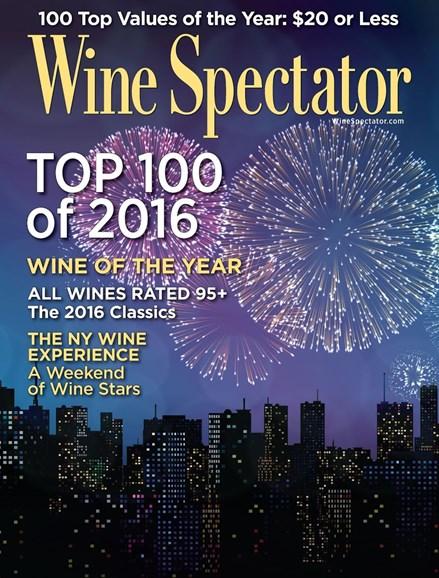 Wine Spectator Cover - 12/31/2016