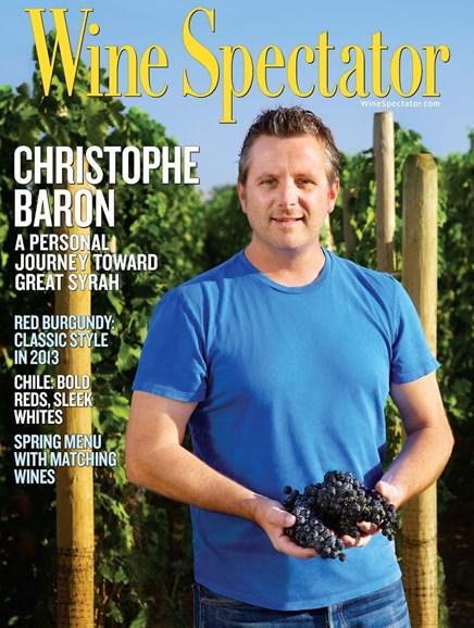Wine Spectator Cover - 5/31/2016