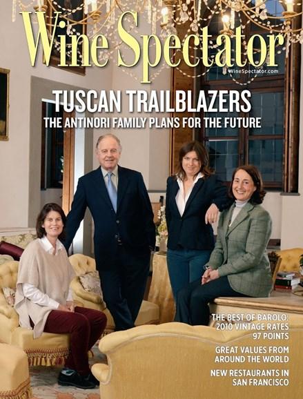 Wine Spectator Cover - 4/30/2015
