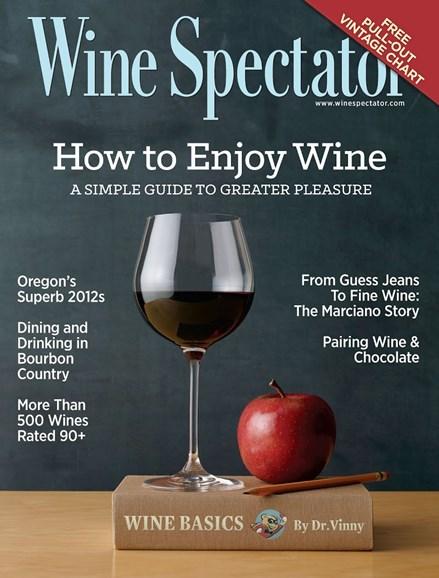 Wine Spectator Cover - 2/28/2015