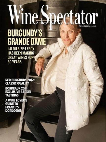 Wine Spectator Cover - 6/30/2015