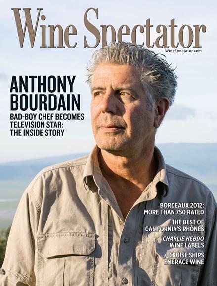 Wine Spectator Cover - 3/31/2015