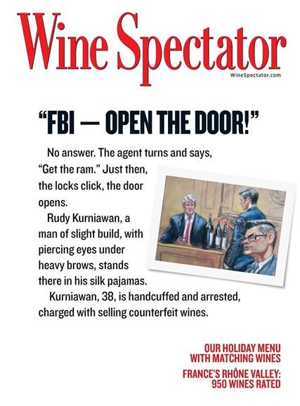 Wine Spectator Cover - 11/30/2015