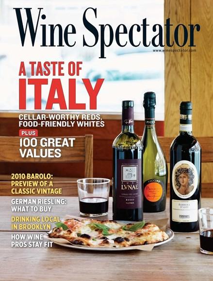 Wine Spectator Cover - 4/30/2014