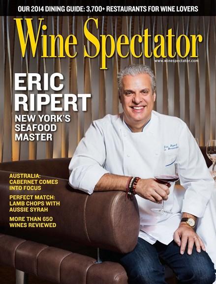 Wine Spectator Cover - 8/31/2014