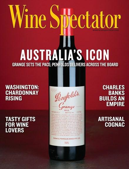 Wine Spectator Cover - 12/15/2014