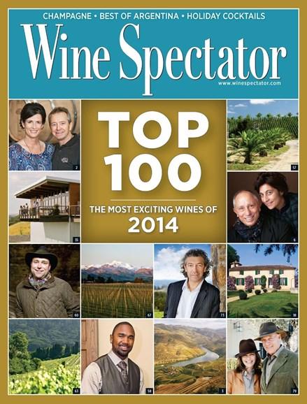 Wine Spectator Cover - 12/31/2014