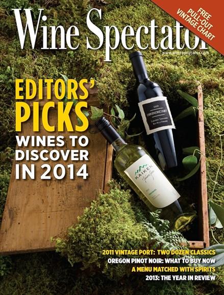 Wine Spectator Cover - 2/28/2014