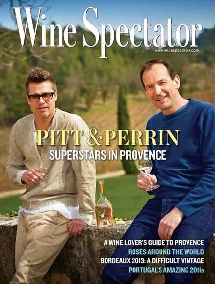 Wine Spectator Cover - 6/30/2014