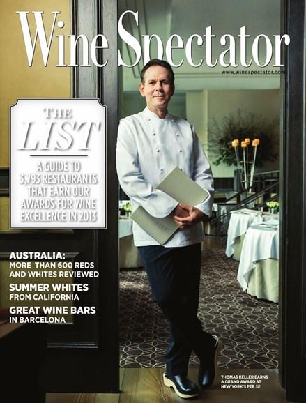 Wine Spectator Cover - 8/31/2013
