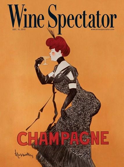 Wine Spectator Cover - 12/15/2013