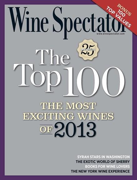 Wine Spectator Cover - 12/31/2013