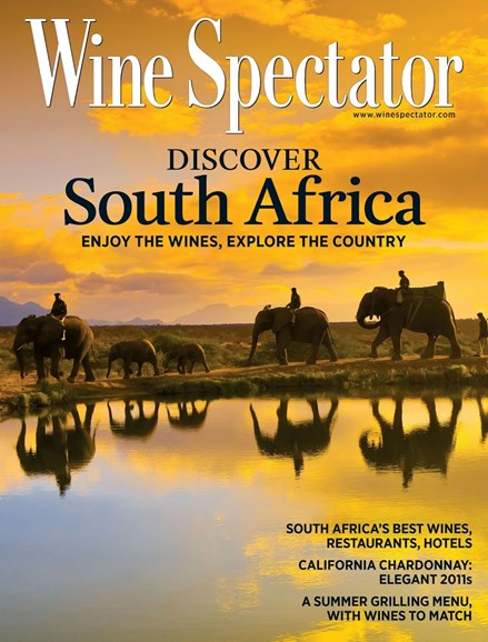 Wine Spectator Cover - 7/31/2013