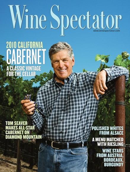 Wine Spectator Cover - 11/15/2013