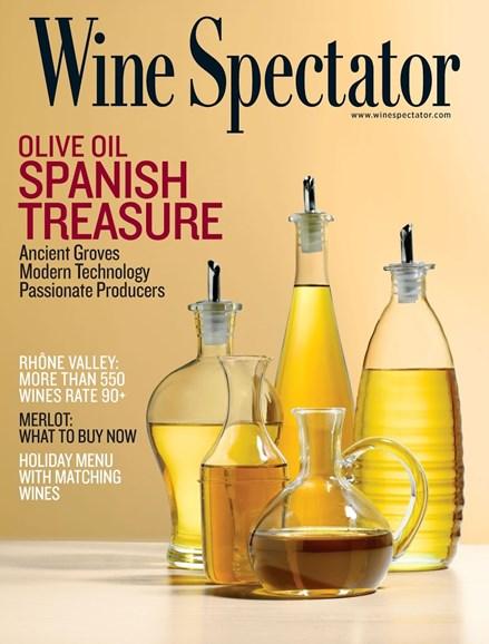 Wine Spectator Cover - 11/30/2013