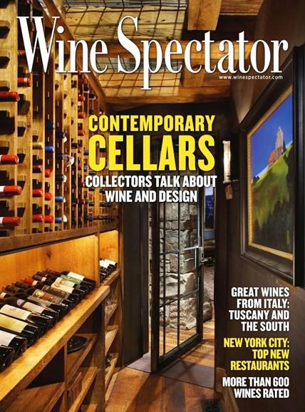 Wine Spectator Cover - 10/31/2013