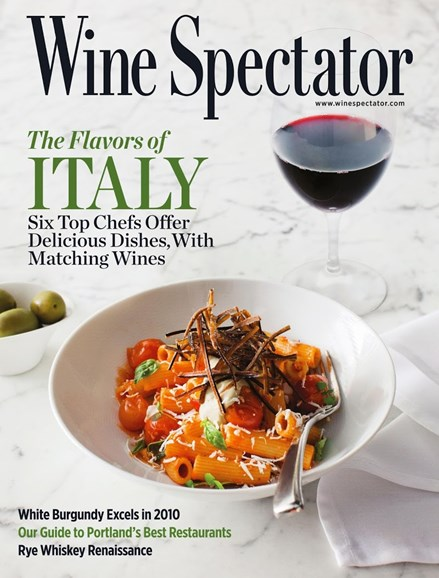 Wine Spectator Cover - 9/30/2013