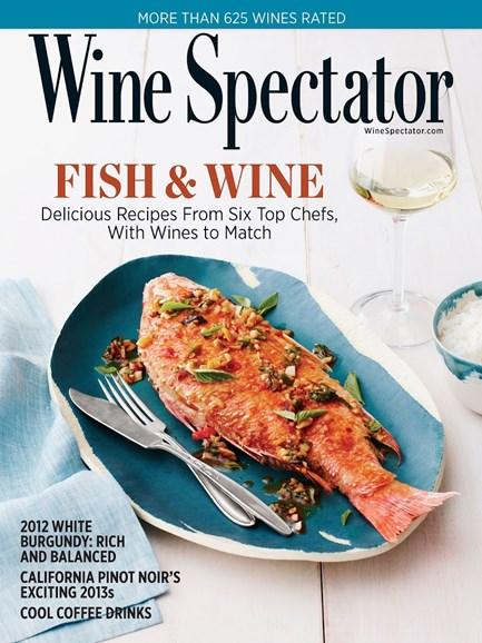 Wine Spectator Cover - 9/30/2015