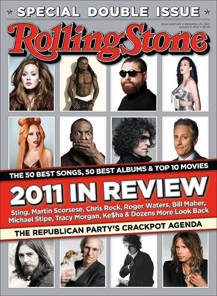 Rolling Stone Cover - 12/22/2011