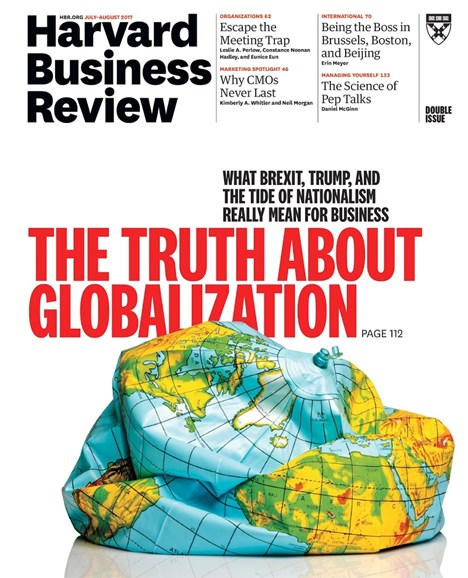 Harvard Business Review Cover - 7/1/2017