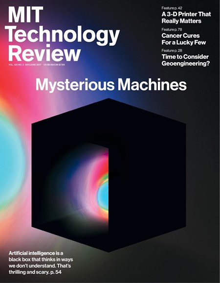 MIT Technology Review Cover - 5/1/2017