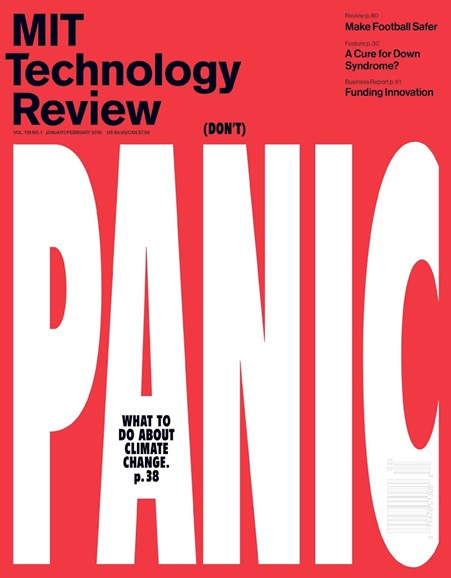 MIT Technology Review Cover - 1/1/2016