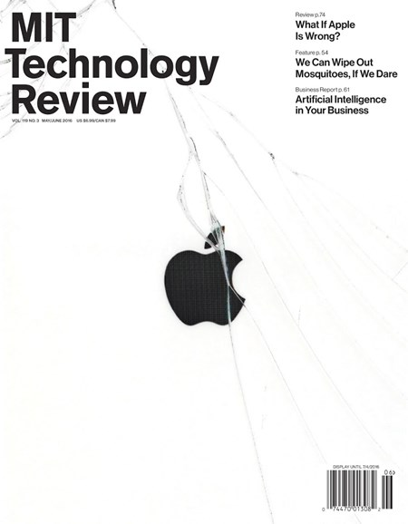 MIT Technology Review Cover - 5/1/2016