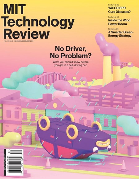MIT Technology Review Cover - 11/1/2016