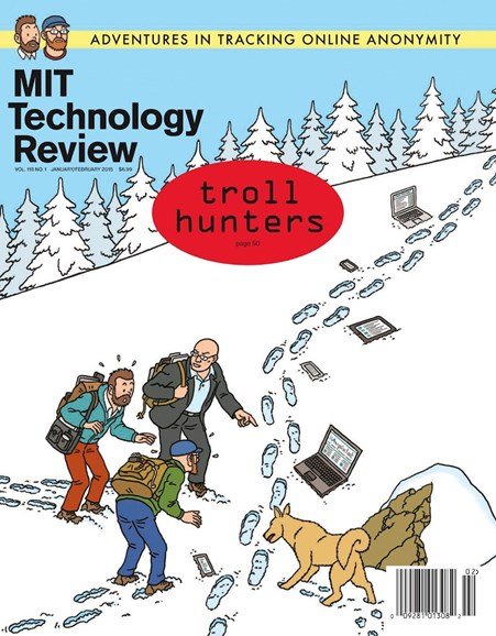 MIT Technology Review Cover - 1/1/2015