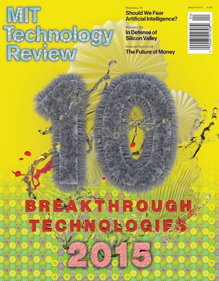 MIT Technology Review Cover - 3/1/2015