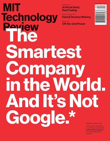 MIT Technology Review Cover - 3/1/2014