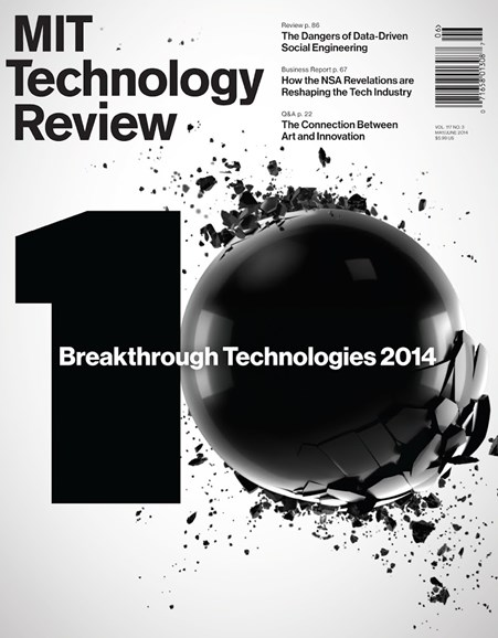 MIT Technology Review Cover - 5/1/2014